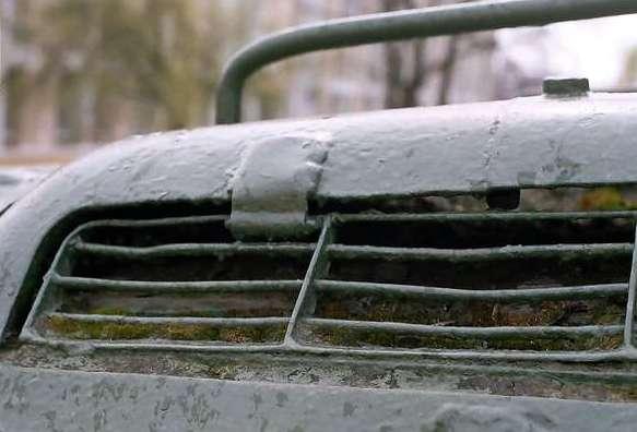 Танк Т-34/85, решетка двигателя