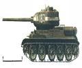 танк Т-34/85, схема окраски, вид слева