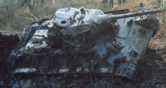 Танк Т-34 достали из болота