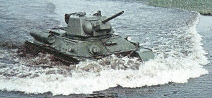 Танк Т-34 преодоление водной преграды