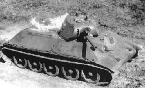 горящий танк Т-34