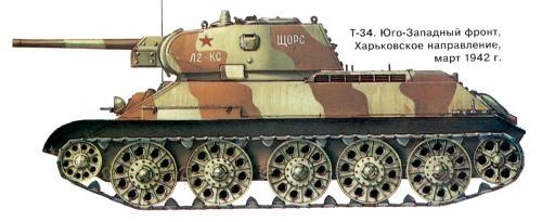 Танк Т-34 юго западный фронт
