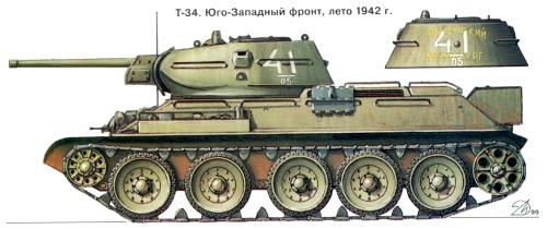 Танк Т-34 лето 1942