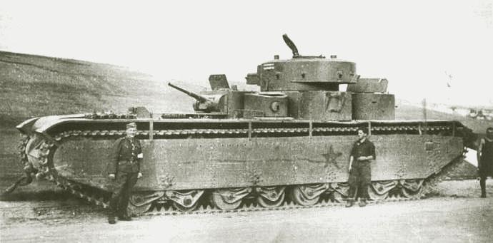 Танк Т-35, ремонт