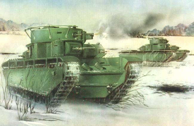 Танк Т-35, рисунок