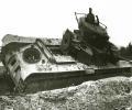 танк Т-35, разбитый в бою