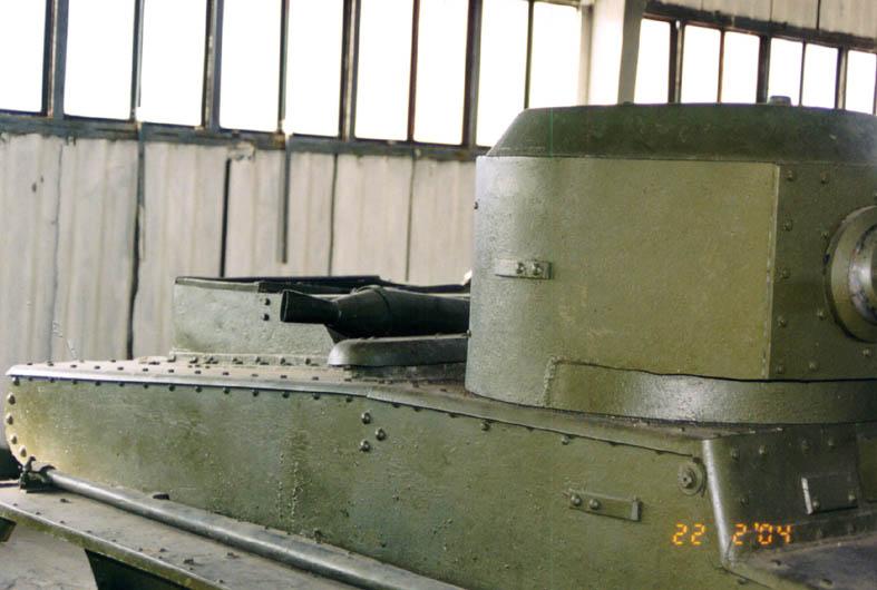 Танк Т-37, башня справа