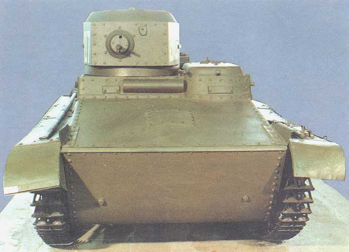 Танк Т-37, вид спереди