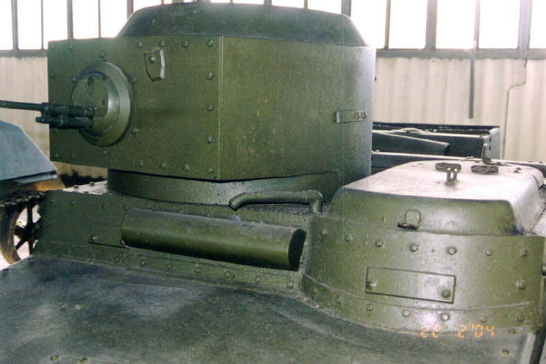 Танк Т-37, пулемёт в башне