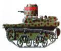 танк Т-37, в камуфлированной окраске