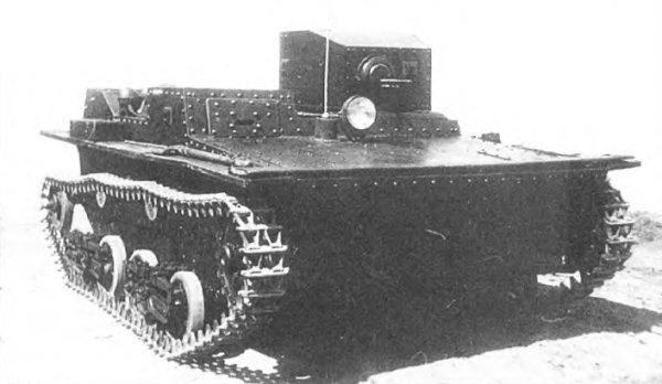 Танк Т-38, фара-искатель