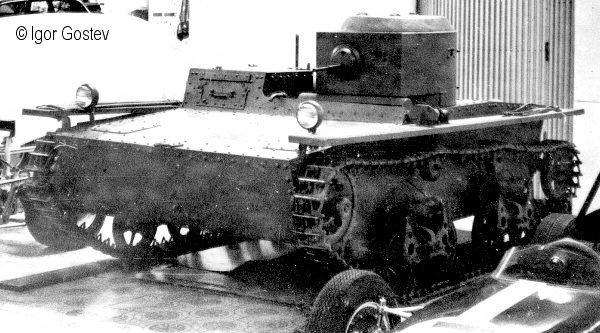 Танк Т-38, старая фотография