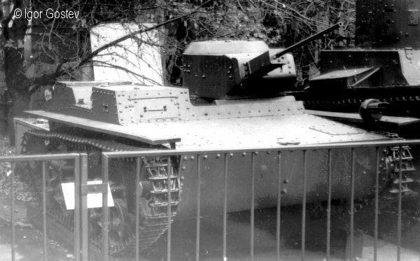 Танк Т-38, на открытой площадке