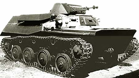 Танк Т-40, старая фотография