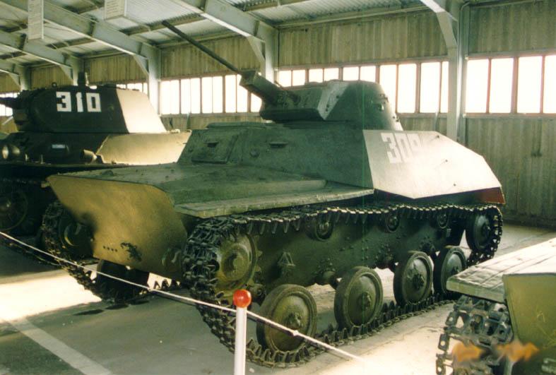 Танк Т-40, в музее