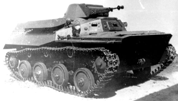 Танк Т-40, вид спереди