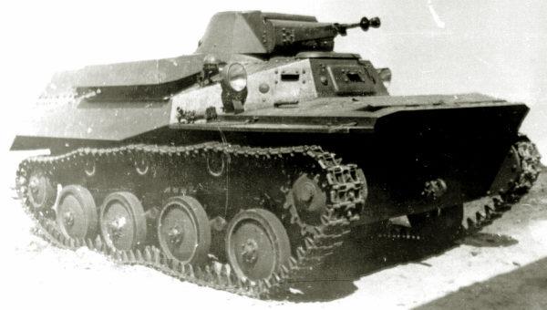 Танк Т-40, вид справа