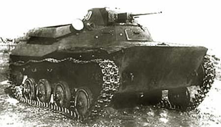 Танк Т-40, на манёврах
