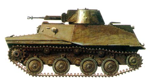 Танк Т-40, схема окраски