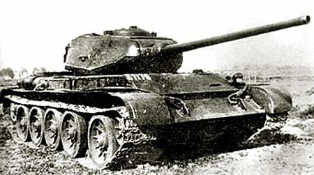 Танк Т-44, на старой фотографии