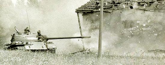 Танк Т-44, в засаде