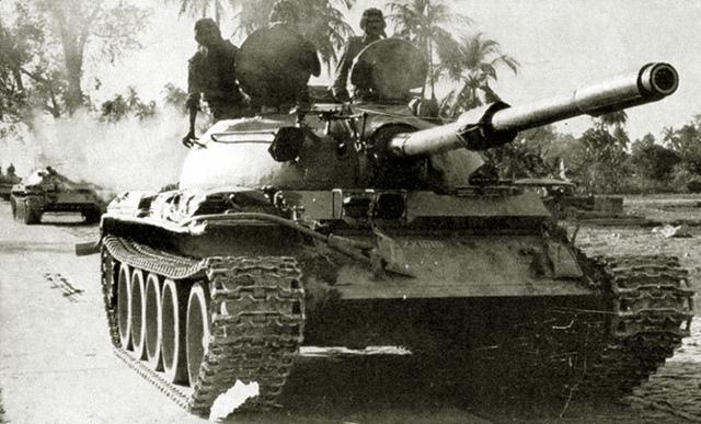 Танк Т-44, в Африке