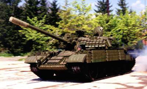 Танк Т-44, с установленной активной защитой