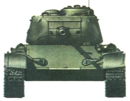 Танк Т-44, схема окраски, вид спереди