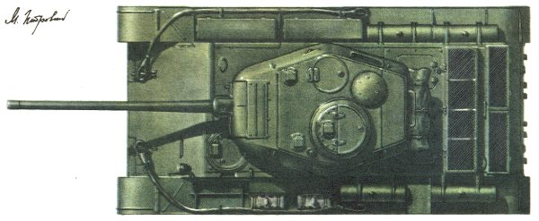 Танк Т-44, схема окраски, вид сверху
