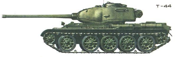 Танк Т-44, окраска
