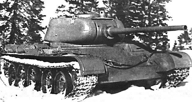 Танк Т-44, зимняя фотография