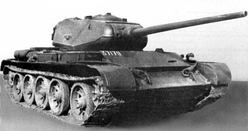 Танк Т-44, ретушированная фотография