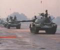 танк Т-44, на параде