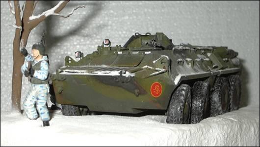 БТР-80, вид спереди