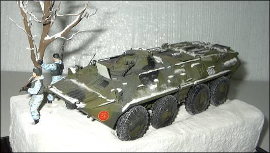 БТР-80, вид спереди сверху