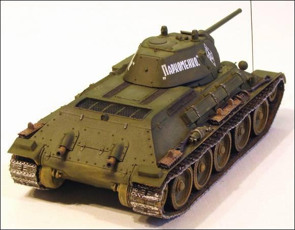 Т-34, вид сзади