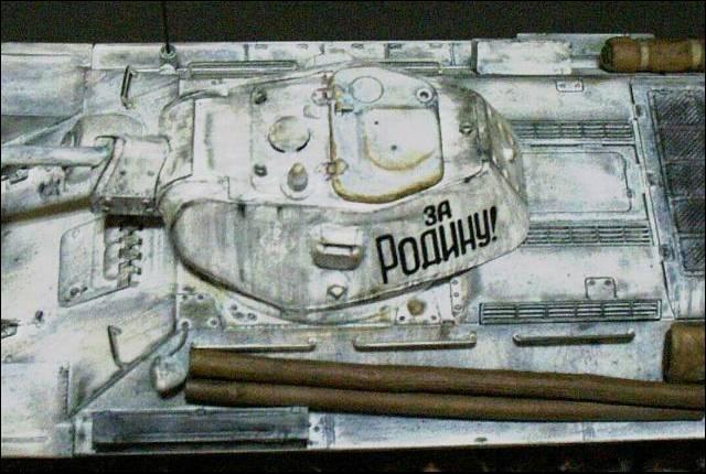 tank t-34/76, вид сверху
