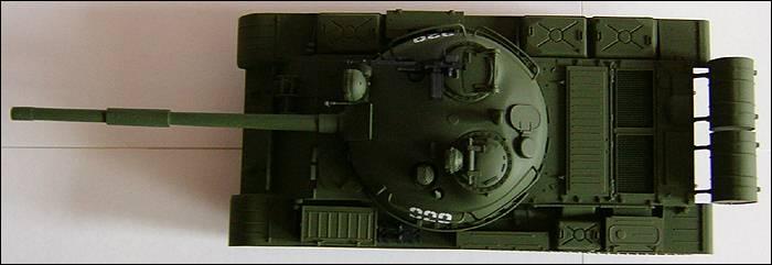 Т-62, вид сверху